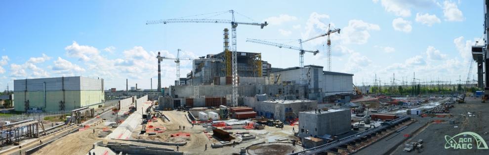 ЧАЭС: ход строительства НБК по состоянию на 23 июня 2016 года
