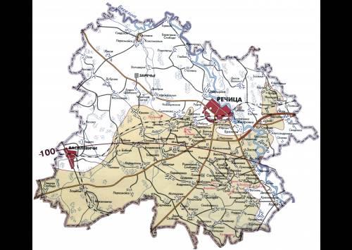 Уменьшение радиоактивных территорий по Речицки